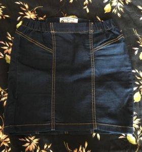 Лёгкая джинсовая юбочка