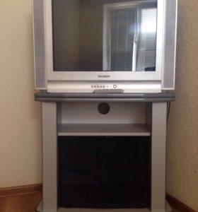 Телевизор и подставка под телевизор
