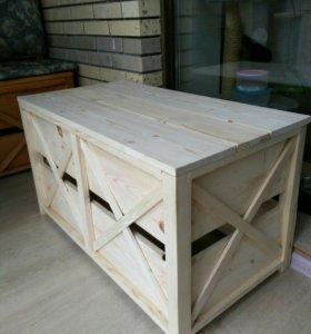 Скамья с ящиком для хранения