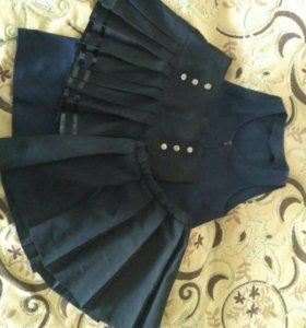 Школьная форма на девочку(сарафан и 2 юбки)