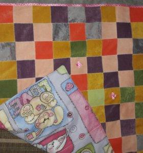 Детское утеплённое одеяло для девочки