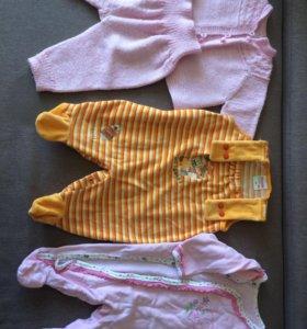 Пакет одежды для девочки до 5 мес