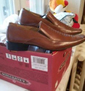 Новые мужские туфли кожа
