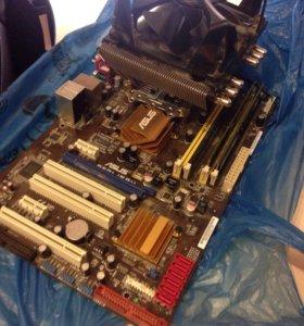 Материнка + процессор +кулер в сборе