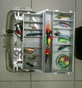 Двухъярусный рыболовный летний ящик