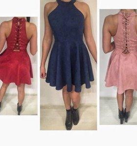 Платье эко-замша