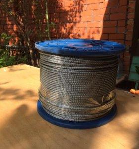 Трос стальной оцинкованный DIN 3055 4мм 250м