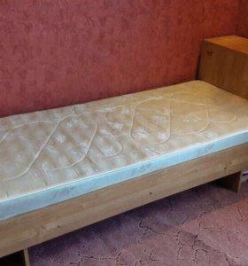 Кровать односпальная с ящиком для белья