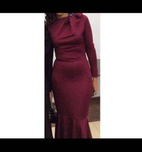 Марсала платье-рыбка