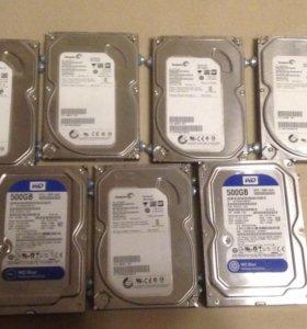 Жёсткие диски Seagate 500Гб + Новые Тошиба