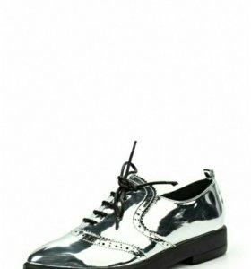 Новые серебряные ботинки LONS INK с Lamoda