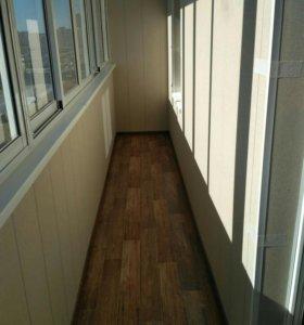 Отделка лоджии и балконы