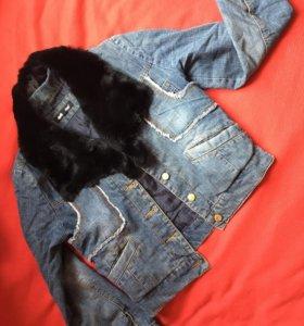 Куртка джинсовая мех можно отстегнуть