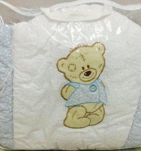 Противоуд. бортики и балдахин для детской кроватки