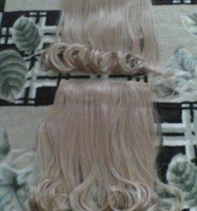 Волосы на заколках(искуственные)