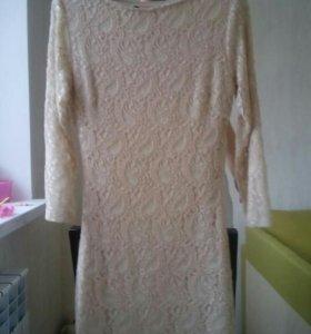 Платье гипюр, новое