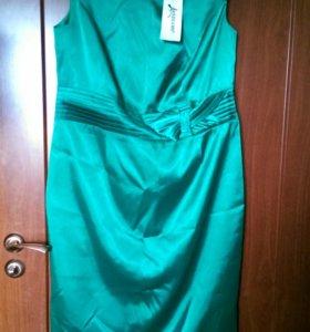 Платье атласное 52-54