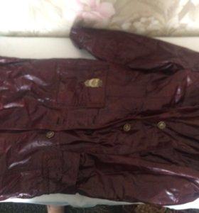 Кожаное пальто с подкладкой