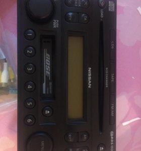 Автомагнитола на 6 дисков и кассета Ниссан 2Din
