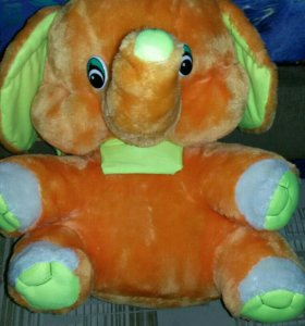 Мягкая детская плюшевая игрушка слоник.