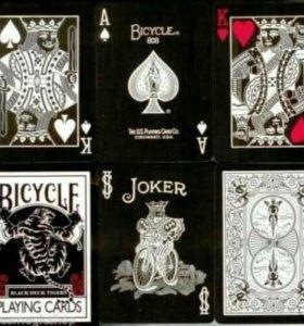 Игральные карты Bicycle Tiger Deck Черные Стильные