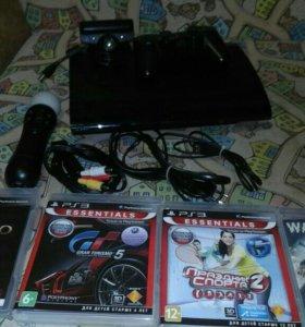 Sony PlayStation 3 Move(465гб.)+4игры