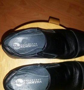 Кожаные детские туфли