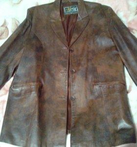 Кожаный натуральный куртка-пиджак