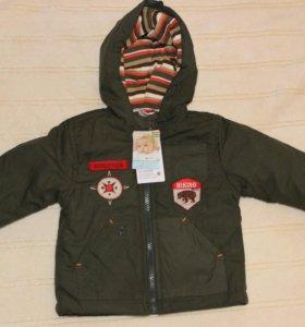 Новая фирменная деми куртка р. 80-86