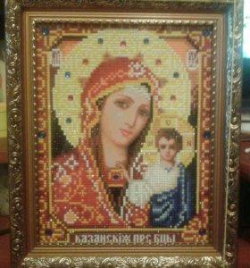 Картина икона Богородица Казанская.