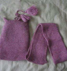 Новые комплект  шапка, и шарф