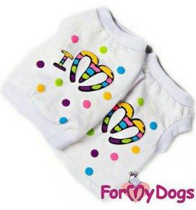 Майка белая (одежда для собак)
