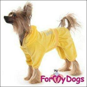 Костюм велюр желтый (одежда для собак)