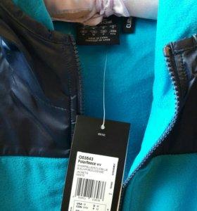 Adidas Спортивная куртка муж/жен 48-50 флис-нейлон