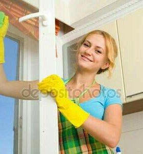 Уборка квартир и мытьё окон