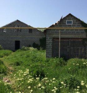 Дом недостроенный с гаражом в Натухаевкской