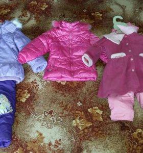 Детские костюмчики для девочки 2-3 года