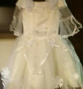 Платье принцессы на 2-4 года
