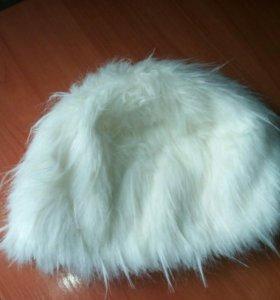 Шапка белая(зимняя)