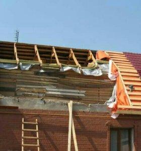 Монтаж демонтаж крыши, фасад