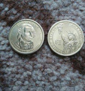 Монеты 1доллар Президенты США