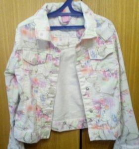 Джинсовка, джинсовая куртка рост 122