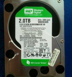 Жесткий диск 2 Тб (2000 Гб) HDD Western Digital