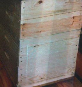Пчелиные ульи многокорпусные с рамками