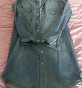 Джинсовая рубашка бершка