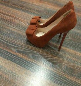 Туфли женские замшевые 37 размер