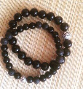 Мужские браслеты из натурального камня.