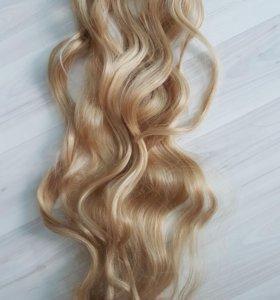 Термо волосы на заколках, локоны 50см