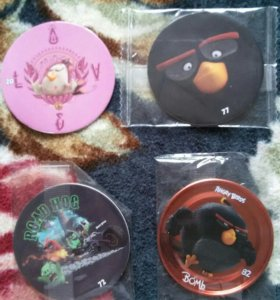 Фишки Chipicso angry birds 20, 72, 77 и 82