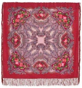 Платок шерстяной с шёлковой бахромой (новый)